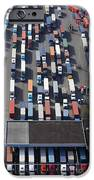 Aerial View Of Semi Trucks At Port IPhone Case by Don Mason