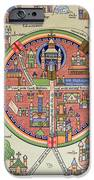 Ancient Map Of Jerusalem And Palestine IPhone Case by French School