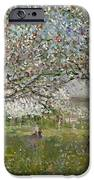 Apple Trees In Flower IPhone Case by Ernest Quost