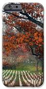 Arlington Cemetery In Fall IPhone Case by Carolyn Marshall