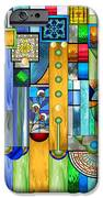 Art Deco Stained Glass 1 IPhone Case by Ellen Henneke