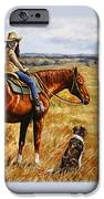 Horse Painting - Waiting For Dad IPhone Case by Crista Forest