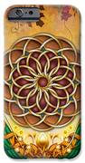 Autumn Serenade - Mandala Of The Two Peacocks IPhone Case by Bedros Awak