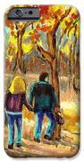 Autumn  Stroll On Mount Royal IPhone Case by Carole Spandau