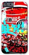 Barcelona Street Graffiti IPhone Case by Funkpix Photo Hunter