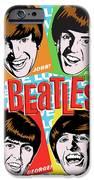 Beatles Pop Art IPhone Case by Jim Zahniser