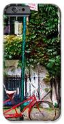 Bicycle Parking Sketch IPhone Case by Randy Aveille