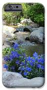 Blue Flowers And Stream IPhone Case by Corey Ford