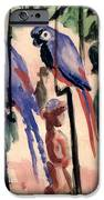 Blue Parrots IPhone Case by August Macke