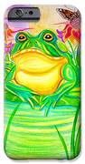 Bull Frog And The Moon IPhone Case by Nick Gustafson