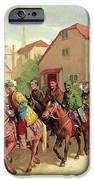 Chaucer's Pilgrims IPhone Case by van der Syde