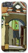 Chesky Krumlov Old Street Latran  IPhone Case by Yuriy  Shevchuk