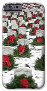 Christmas Wreaths Adorn Headstones IPhone Case by Stocktrek Images