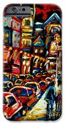 City At Night Downtown Montreal IPhone Case by Carole Spandau