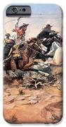 Cowboys Roping A Steer IPhone Case by Charles Marion Russell