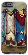Cowgirls Kickin The Blues IPhone Case by Frances Marino