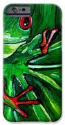 Curious Tree Frog IPhone Case by Patti Schermerhorn