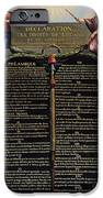 Declaration Of The Rights Of Man And Citizen IPhone Case by French School