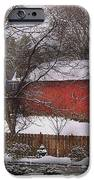 Farm - Barn - Winter In The Country  IPhone Case by Mike Savad