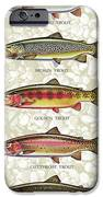 Five Trout Panel IPhone Case by JQ Licensing