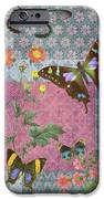 Four Butterfly Patch Blue IPhone Case by JQ Licensing