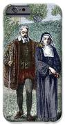 Galileo And His Daughter Maria Celeste IPhone Case by Sheila Terry