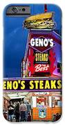 Geno's Steaks South Philly IPhone Case by John Greim