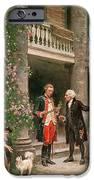 George Washington At Bartrams Garden IPhone Case by Jean Leon Jerome Ferris