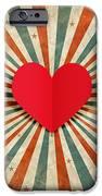 Heart With Ray Background IPhone Case by Setsiri Silapasuwanchai