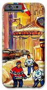 Hockey Fever Hits Montreal Bigtime IPhone Case by Carole Spandau