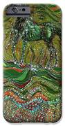 Horse Rises From The Earth IPhone Case by Carol Law Conklin