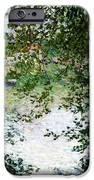 Ile De La Grande Jatte Through The Trees IPhone Case by Claude Monet