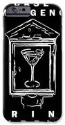 In Case Of Emergency - Drink Martini - Black IPhone Case by Wingsdomain Art and Photography