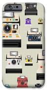 Instant Camera Pattern IPhone Case by Setsiri Silapasuwanchai