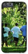 Joggers In The Park IPhone Case by Susan Savad