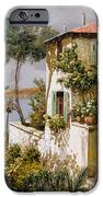 La Casa Giallo-verde IPhone Case by Guido Borelli