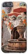 la fontana a St Paul de Vence IPhone Case by Guido Borelli