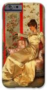 Lady Reading IPhone Case by Joseph Frederick Charles Soulacroix