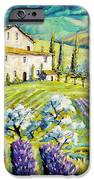 Lavender Hills Tuscany By Prankearts Fine Arts IPhone Case by Richard T Pranke
