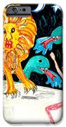 Leap Away From The Lion IPhone Case by Sushila Burgess