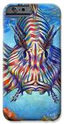 Lion Fish IPhone Case by Nancy Tilles