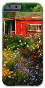 Little Red Flower Shed IPhone Case by John Lautermilch