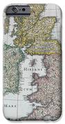 Map Of Britain IPhone Case by English school