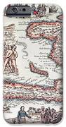 Map Of The Island Of Haiti IPhone Case by French School