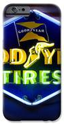 Neon Goodyear Tires Sign IPhone Case by Mike McGlothlen