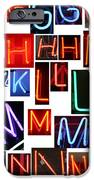 neon series G through N IPhone Case by Michael Ledray