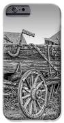 Nevada City Montana Freight Wagon IPhone Case by Daniel Hagerman