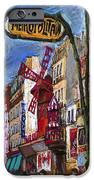 Paris Mulen Rouge IPhone Case by Yuriy  Shevchuk