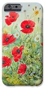 Poppies And Mayweed IPhone Case by John Gubbins