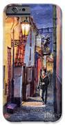 Prague Old Street Golden Line IPhone Case by Yuriy  Shevchuk